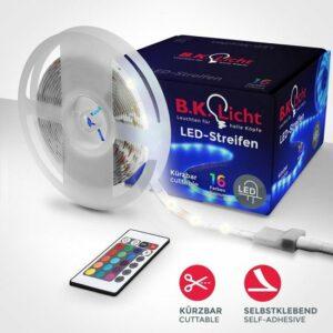 B.K.Licht - LED strip 5 meter - RGB - met afstandsbediening incl. kleurverandering