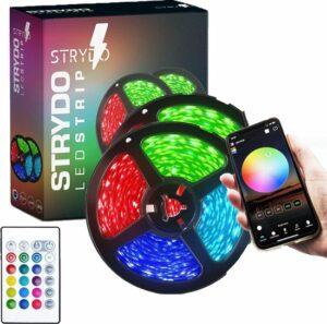 Led Strip - 10 Meter (2x5mtr) - RGB - Led light Strip - LED Lamp - Met Afstandsbediening - Binnenverlichting - App Functie