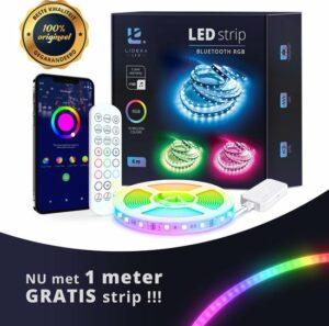 Lideka®️ Smart LED strip 5+1 of 10+2 meter met Afstandsbediening - Led Light Strip - RGB Licht strip - Led Verlichting - Incl. App