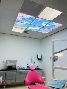 S&L led Panel - Daglicht Wolken met bomen Plafond
