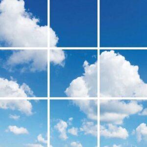 Wolkenplafond - Fotoprint - 9 panelen - 60x60 cm